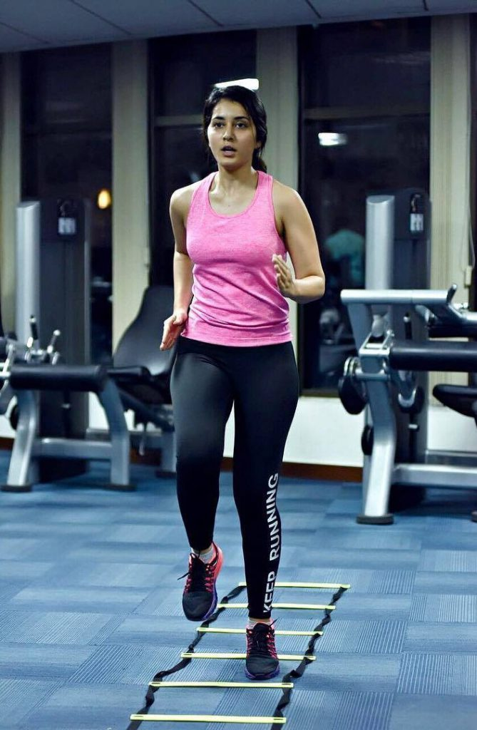 Actress Rashi Khanna Fitness Workout