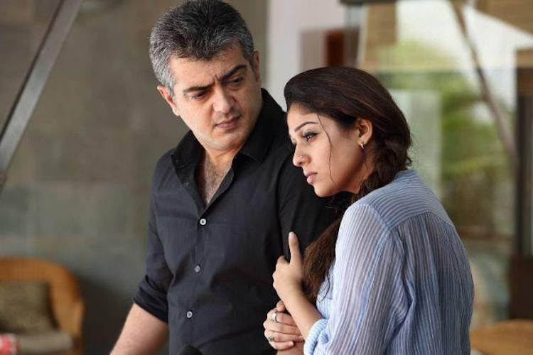 Ajith kumar with Nayanthara