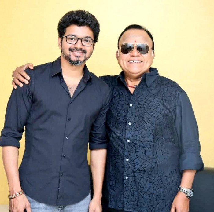 Vijay With Radha Ravi