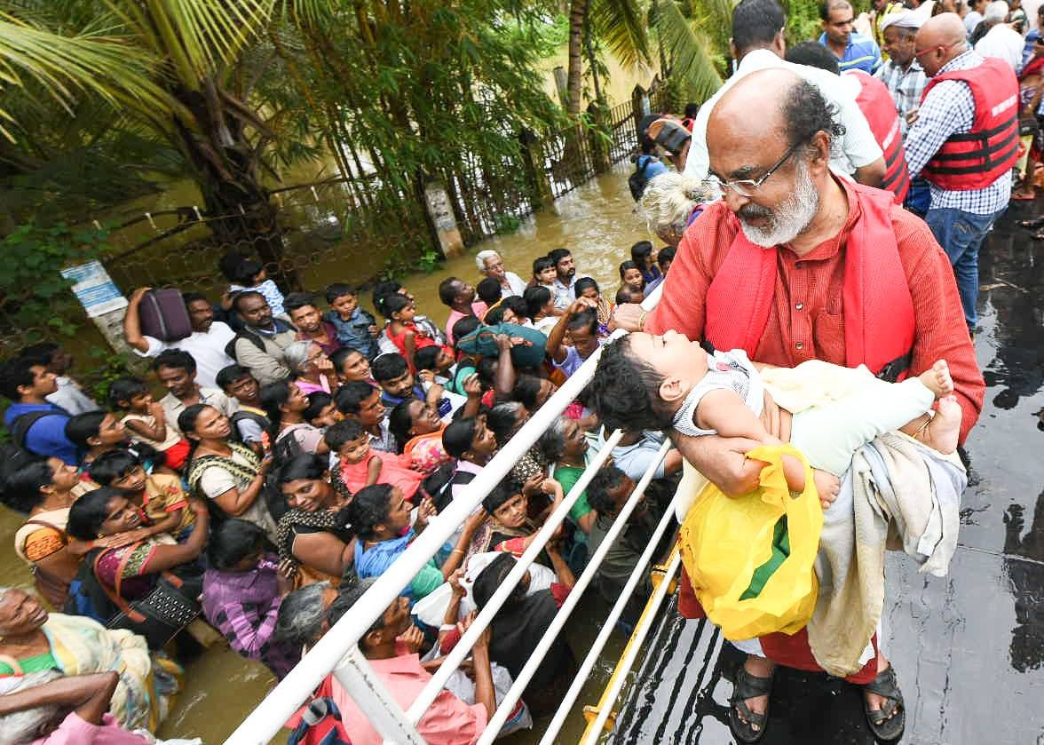 kerala flood child