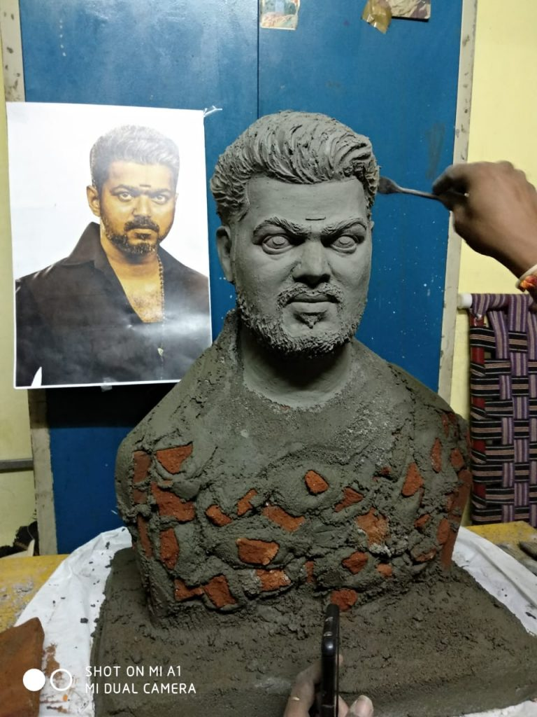 Image result for Bigil rayappan statue